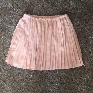 Banana republic pleated pink skirt
